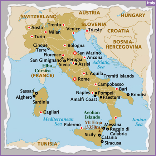 Destination ITALY holiday tours